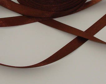 3 m width 9.8 mm Brown satin ribbon