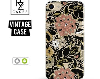 Vintage Phone Case, Floral Phone Case, Gothic Phone Case, iPhone 7 Case, iPhone 6s Case, iPhone 5 Case, iPhone 6 Plus, Samsung Galaxy S7