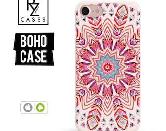 iPhone 7 Case, Boho Case, iPhone 6 Case, Mandala Case, Feather Case, iPhone 7 Plus Case, iPhone 6 plus, Samsung Galaxy, iPhone 7 Clear Case