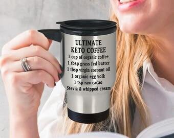 Keto Travel Mug - Coffee Recipe Stainless Mug