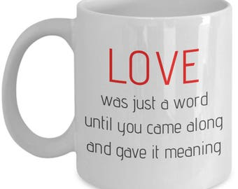 True Love Mug: Valentine's Day Anniversary True Romance for Wife Husband Sweetheart Fiance Boyfriend Girlfriend Partner