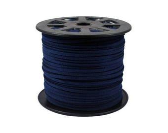 1 m Navy blue color suede cord