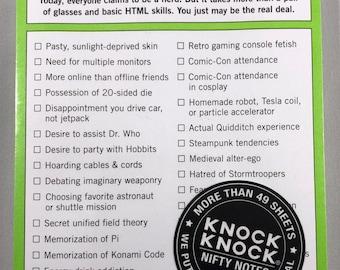 Knock Knock Brand - Nerd Alert Notes