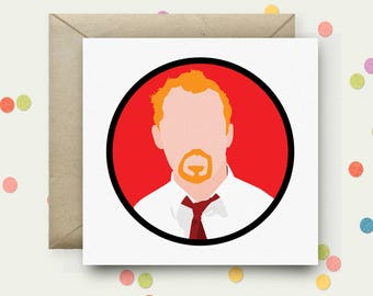 Shaun of the Dead Square Pop Art Card & Envelope