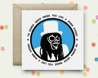 Mighty Boosh Square Pop Art Card & Envelope