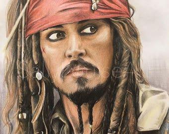Prints Jack Sparrow Drawing