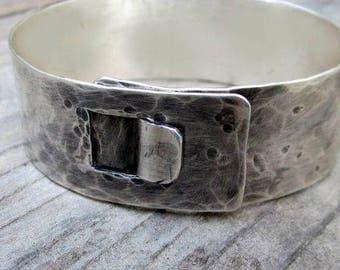Latch Cuff In Sterling Silver
