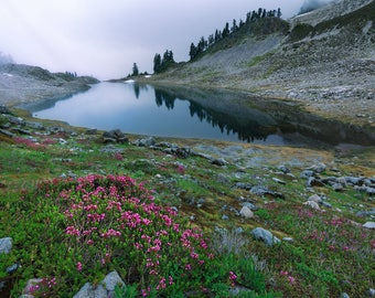 Peaceful Mountain Lake in Washington |  Pacific Northwest Photography | Print | Metal, Canvas, Lustre