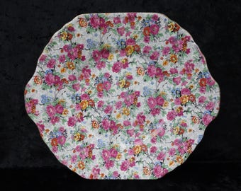 """Lord Nelson Ware Marina Chintz 10"""" Serving Plate"""
