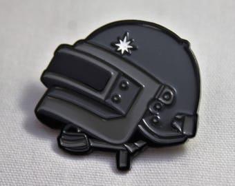 PUBG Level 3 Helmet Soft Enamel Pin | Player Unknown's Battlegrounds