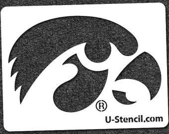 UNIVERSITY of IOWA TIGERHAWK – Mini Stencil