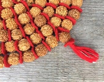 Handmade Rudraksha Mala Beads 108 +1