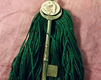 Key and Tassel pendant