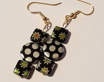 Star and polka dot earrings