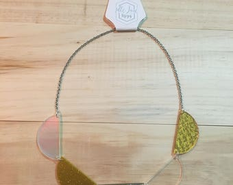 Golden Scallop Necklace on Chain