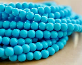 6mm Turquoise beads, turquoise howlite beads, full strand, natural stone beads, round, 60101