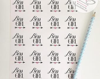 40 Boss Girl Stickers,  Perfect for parcels, packages, letters, Small Business, Order, Labels, Stickers boss, girl, girlboss