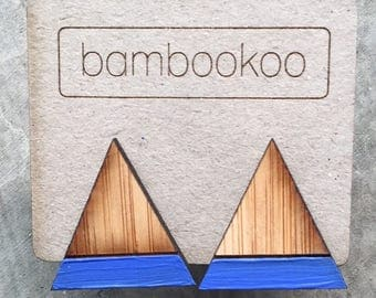 Bambookoo Triangle stud - Royal Blue