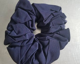 Handmade Navy Blue Scrunchie