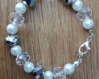 White & Grey Bracelet