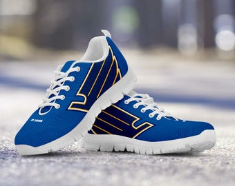St. Louis Blues Fan Custom Running Shoes/Sneakers/Trainers - Ladies + Mens Sizes fan, collector, gift