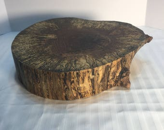 End Grain Rustic Butcher Block/End Grain Cutting Board/Rustic Wedding Cake Holder/Food Server/Oak Tree Slice