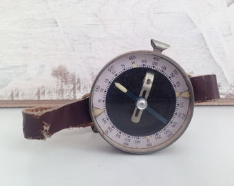 Vintage Wrist Compass - Army Compass - Military Compass - Old Compass