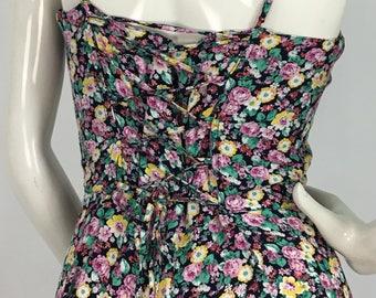 1990s floral skater dress/vintage skater dress