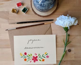 Birthday card - flowers