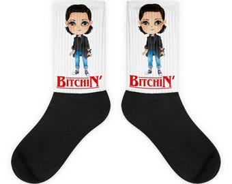 Bitchin Eleven Stranger things socks, Stranger things Christmas gift women Stranger socks Stranger things 2 gift Stranger things 2 present