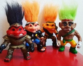 4 Battle Trolls Action Figures
