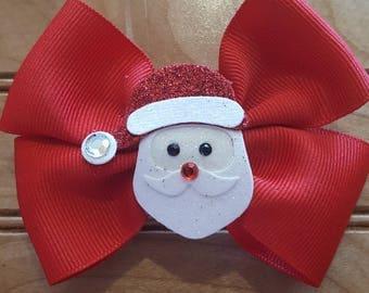 Christmas hair bows, holiday bow, girls bow, santa, santa bow, christmas pictures,