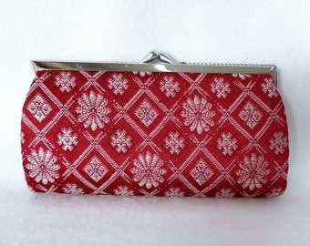 1114: Kimono purse,Japanese vintage purse,made in Japan
