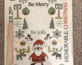 Cloud9 Design Rub-On Words & Elements Christmas Is...