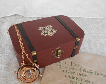 Harry Potter, FULL!!, Harry Potter Jewelry, Harry Potter Inspired Trunk, Harry Potter Chest, Hogwarts Box, Harry Potter, Hogwarts Trunk