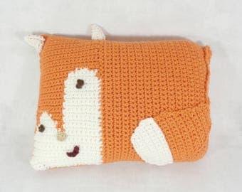 Fox throw pillow - fox pillow - woodland pillow - animal pillow - fox nursery - decorative pillow - throw pillow - fox cushion - fox toy