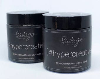 4 oz #hypercreative Aromatherapy Candles   All Natural Soy Candle   Essential Oil Candles   #hypercreative