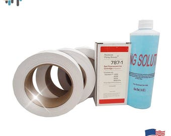 Compatible 787-1 Max Volume Ink Cartridge Compare to Pitney Bowes 787-1 + (3 Rolls) 613-H Connect Tape