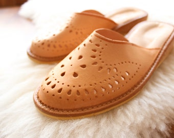 Women House Slippers Real Leather Slippers Moccasin Shoes Boot Slippers Handmade Shoes Slipper shoes High heel slippers genuine leather