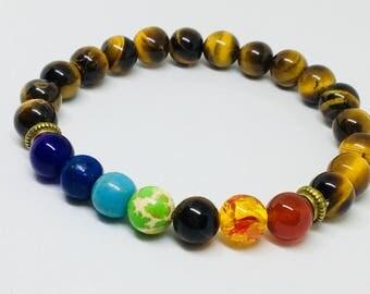 Chakra Healing Crystal Beaded Bracelet