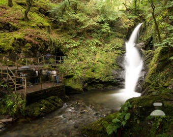"Mounted Photographic Display Print - Dolgoch Falls #1 (A4 print in 14"" x 11"" Mount, Unframed)"