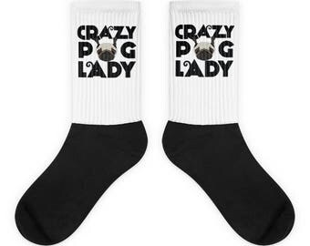 Crazy Pug Lady Socks