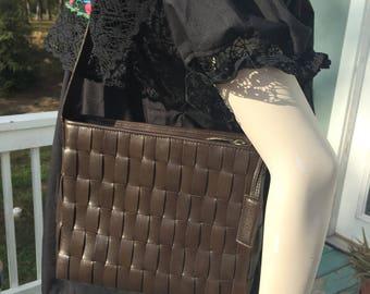 Vintage Cole Haan weaved leather handbag