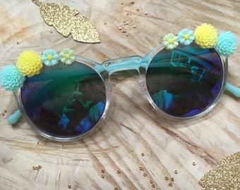 Sunglasses Bohemian flowers