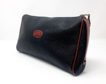 Mulberry Vintage bag/black clutch with leather details