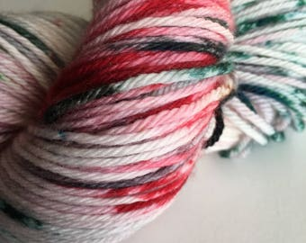 "SALE-Sport Weight Superwash Merino with Nylon- ""Elfin' Around"""