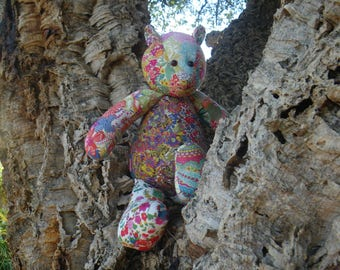 Handmade Liberty London print teddybear