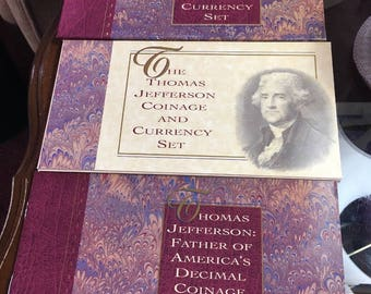 1993 Thomas Jefferson Coin and Currency Set. Gorgeous!!!
