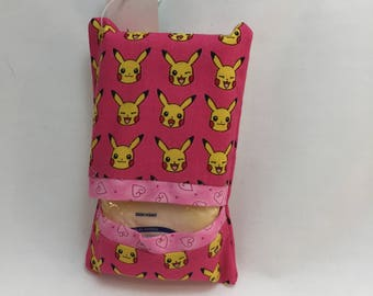 Pink Pikachu tissue packet cover
