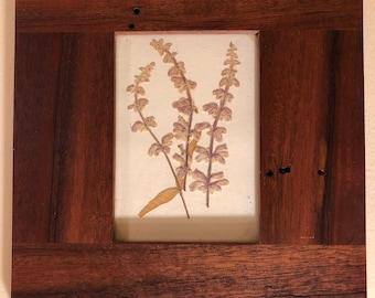 Handmade Hardwood Frames with Dried Flowers